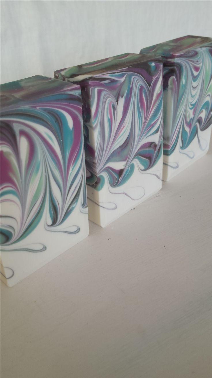 Handmade Soap. Marble Mantra Swirl Method. Handmade by Soap Street 339