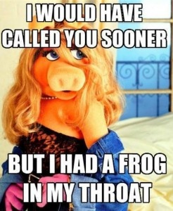 Miss Piggy...dirty but it made me LOL