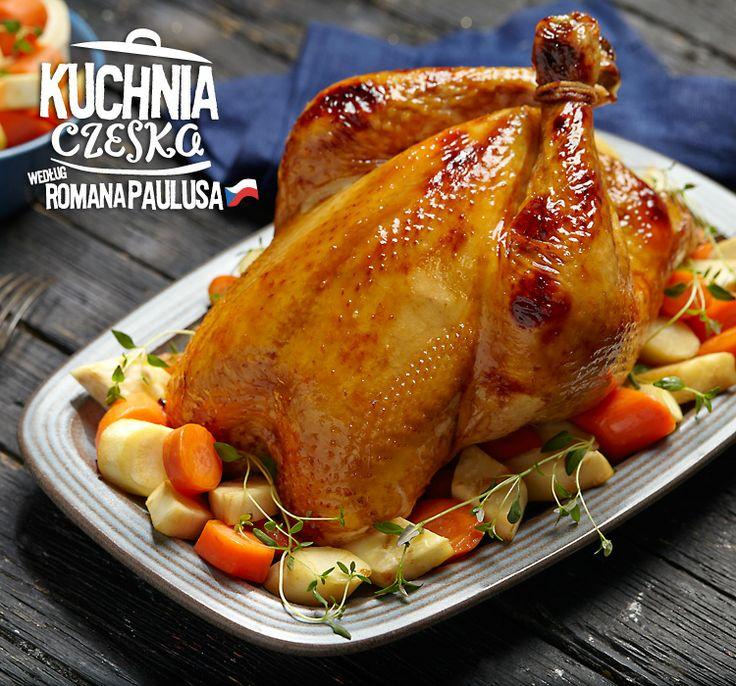 Pieczony cały kurczak bez kości z farszem z bułki #lidl #przepis #kurczak #kuchniaczeska #pieczony