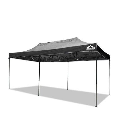 3m X 6m Pop Up Gazebo Garden Canopy Outdoor Marquee Black