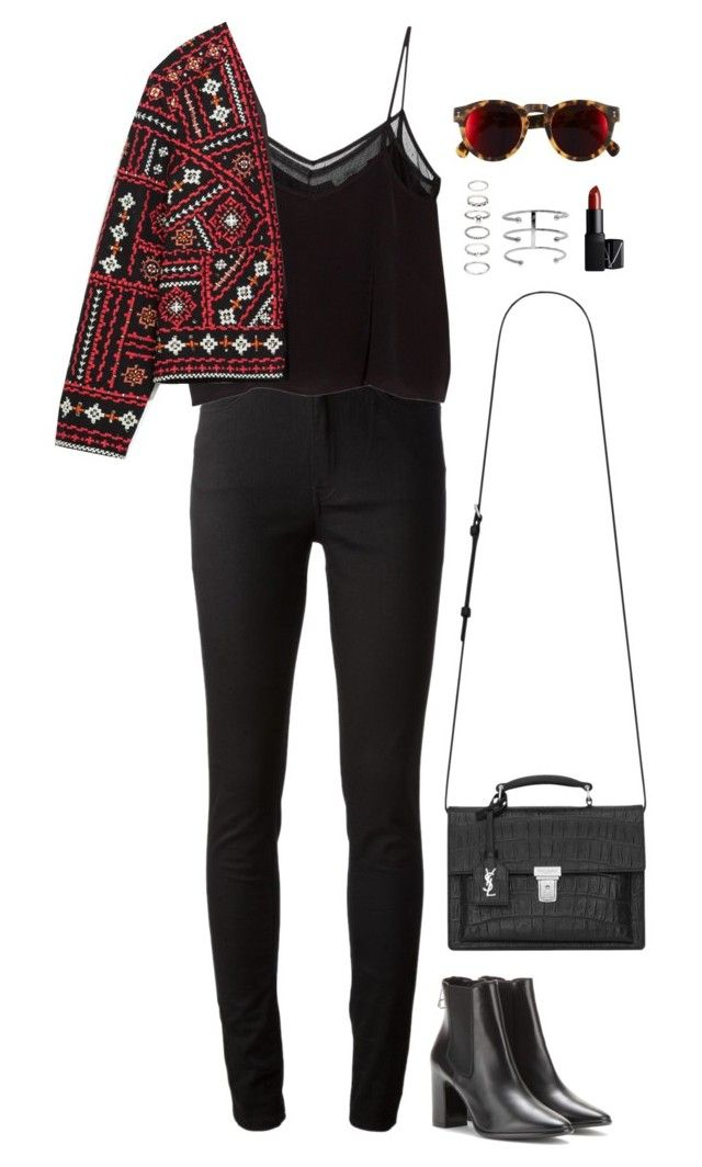 """Sans titre #898"" by romane-inspiration ❤ liked on Polyvore featuring Acne Studios, MANGO, Zara, Yves Saint Laurent, Forever 21, NARS Cosmetics, Balenciaga and Illesteva"
