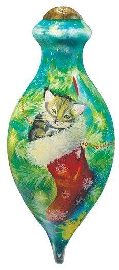 Cozy Christmas Kitten Ornament