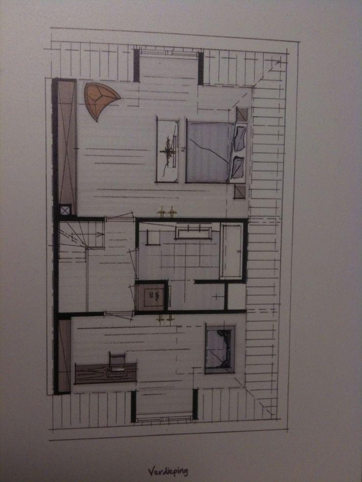 25 beste idee n over appartement plattegronden op pinterest appartement indeling en sims - Lay outs huis idee ...