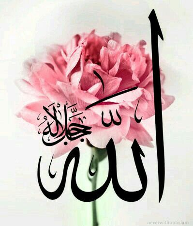 Beautiful Arabic Calligraphy of the Name of God - Allah