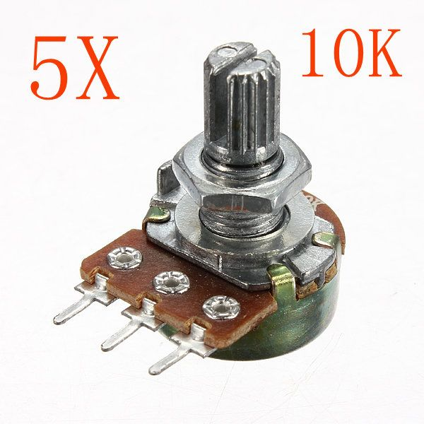 5pcs 200v 0 2w 10k Ohm Potenciometros Sola Lineal Diy Kits Led Diodes 3d Printer Supplies