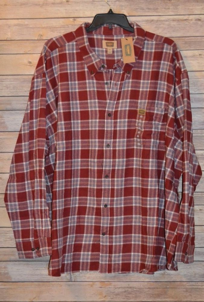 Mens foundry flannel long sleeve shirt big tall 5xl for Foundry men s polo shirts