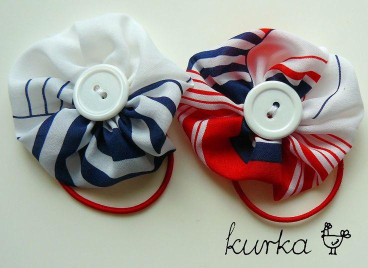 gumki handmade by kurka - marynarskie kwiaty