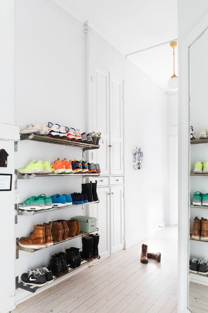 1001 Idees Pour Trouver L Astuce Rangement Chaussures Ideale Pour Votre Interieur Rangement Chaussures Astuce Rangement Chaussures Astuce Rangement