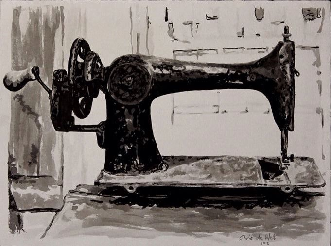 Singer - Ink on Fabriano