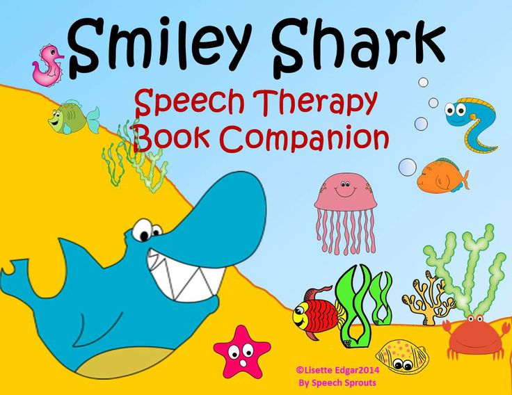 Smiley Shark Book Companion. 24 ocean-themed activities including two games for speech and language learning fun!. From Speech Sprouts #speechtherapy #TpT $