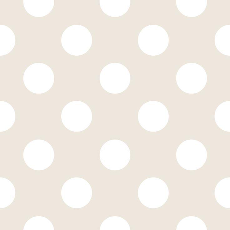 Papírová tapeta Disney šedá, velké bílé puntíky