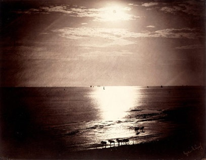 Gustave Le Gray, 1856 - Double exposure, albumen print with glass negative