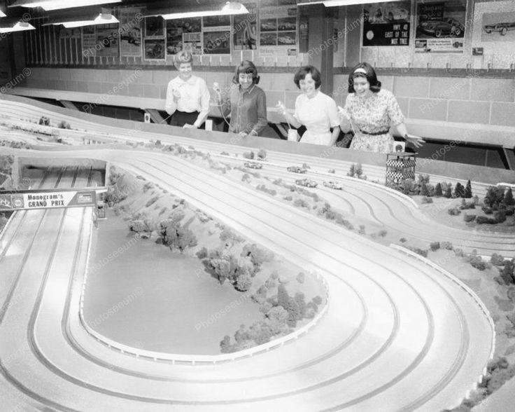 Slot Car Racing 1960s Vintage 8x10 Reprint Of Old Photo