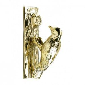 Polished Brass Woodpecker Door Knocker - Brass Door Knockers - Door Knockers - Door Furniture - Hardware - Catalogue | Black Country Metal Works