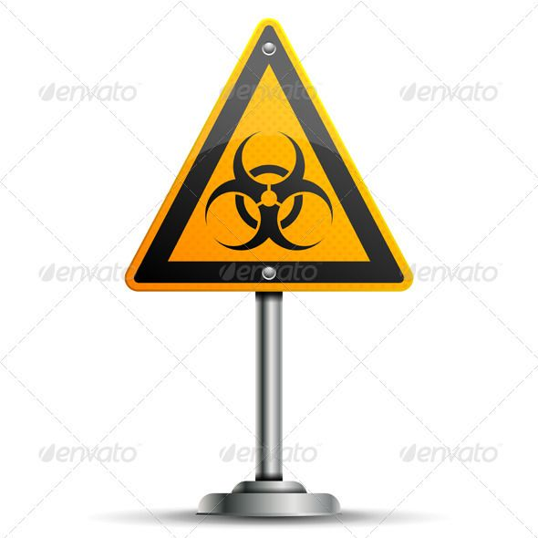 Pole with Warning Sign  #GraphicRiver         Pole with a Warning Road Sign with Biohazard, isolated on white background, vector illustration     Created: 21August12 GraphicsFilesIncluded: JPGImage #VectorEPS Layered: Yes MinimumAdobeCSVersion: CS Tags: alarm #alert #attention #billboard #biohazard #board #concept #danger #icon #illustration #important #internet #isolated #notice #notify #pole #position #post #problem #risk #road #roadsign #sign #signpost #symbol #vector #warning #web