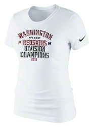 Washington Redskins Women's White Nike 2012 NFC East Division Champions T-Shirt  http://www.fansedge.com/Washington-Redskins-Womens-White-Nike-2012-NFC-East-Division-Champions-T-Shirt-_-1520104487_PD.html?social=pinterest_pfid20-01072