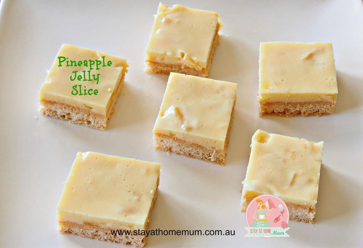 Pineapple Jelly Slice   Stay at Home Mum