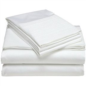 queen 400thread count egyptian cotton sheet set in cloud white