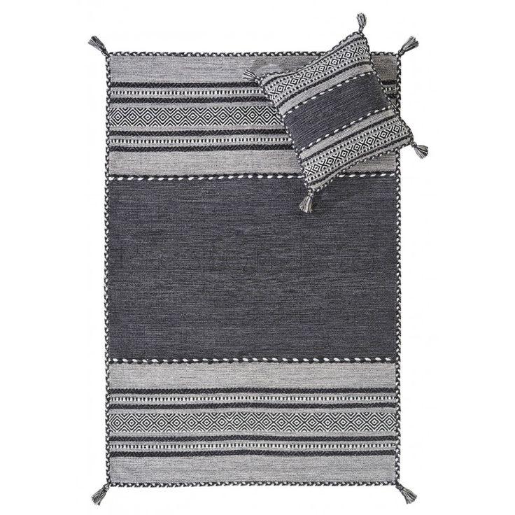 Kelim Flat Weave Rug Charcoal