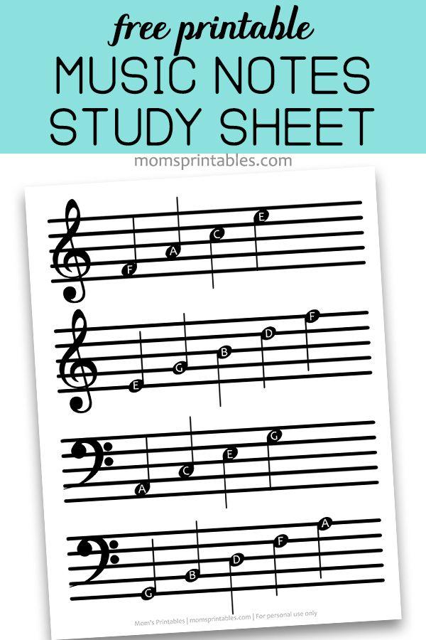 Free Printable Music Notes PDF   Free Printable Music Notes
