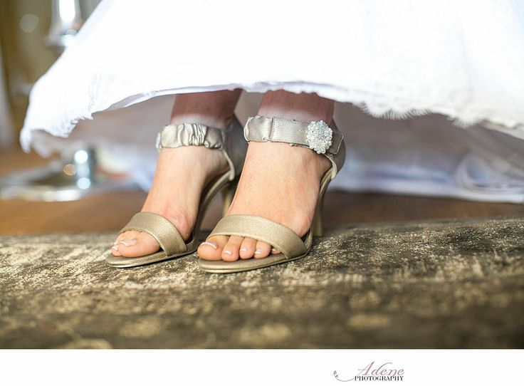 #RealBride Wilma wearing Anella Wedding Shoes Lorraine with her own embelishments