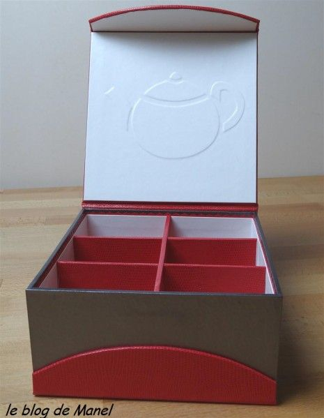 Les cartonnages de Manel / boite à thé ouverte
