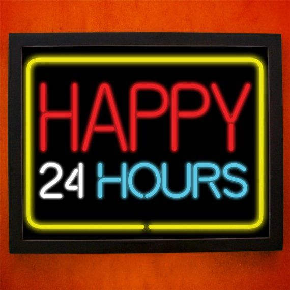 Happy 24 hours  8x10 Art Print by sunnychampagne on Etsy, $18.00