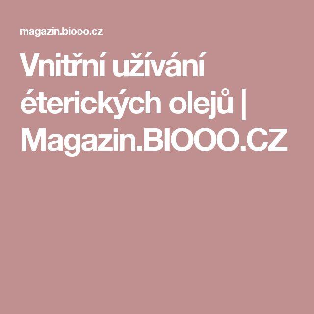 Vnitřní užívání éterických olejů   Magazin.BIOOO.CZ