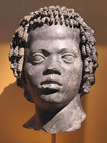 Nubians - Marble portrait of a Nubian, late 2nd century BC