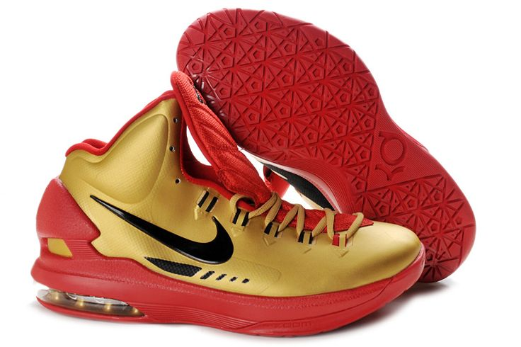 Pas Cher KD V University Rouge Gold 554988 116 Nike Zoom Kevin Durant  Chaussures 2013