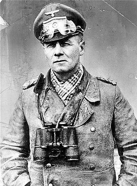 General Erwin Rommel. El Zorro del Desierto, uno de los mas admirados combatientes del bando aleman.