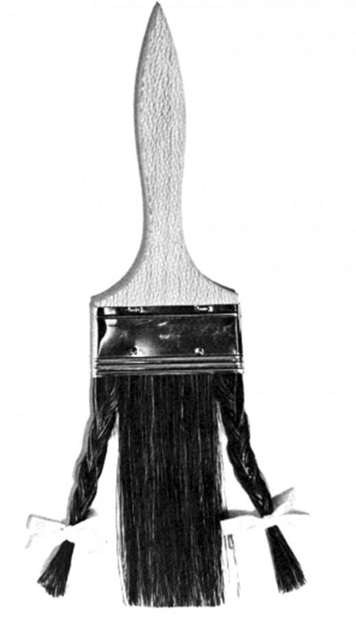 La pennellessa di Bruno Munari Pennello con treccine 1970 circa  coll. priv.