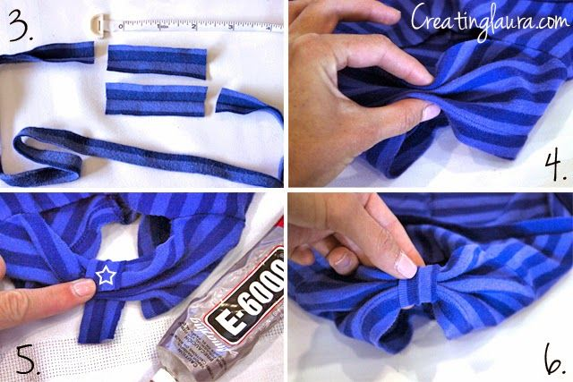 tutorial: transformar mangas de camiseta en lazos