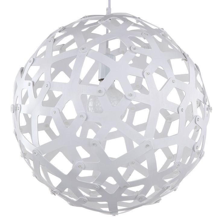 Large Wood Sphere Light Fixture In White 18 Inches 1