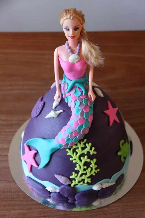 9 best ariel images on Pinterest Barbie birthday cake Doll cakes