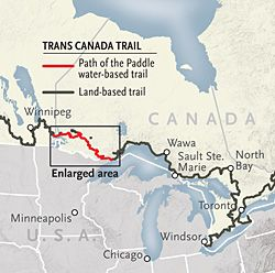 Map of Path of the Paddle - Canadian Geographic #canoeing #TransCanadaTrail
