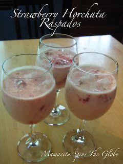 Mamacita Spins The Globe: Strawberry Horchata Raspados (Panama)