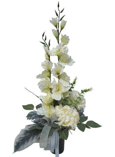 Wklad Do Wazonu Ikebana Kompozycja Grob Stroik 165 7564087790 Oficjalne Archiwum Allegro Rose Flower Arrangements Flower Arrangements Funeral Flowers