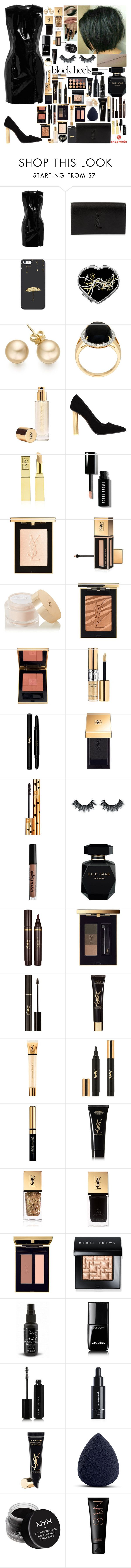 """War in Me"" by girlygirlprincess ❤ liked on Polyvore featuring Topshop Unique, Yves Saint Laurent, Salvatore Ferragamo, Bobbi Brown Cosmetics, NYX, Elie Saab, Chanel, Marc Jacobs, Miriam Quevedo and NARS Cosmetics"