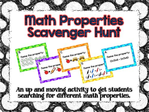 This math properties scavenger hunt is CCSS aligned and perfect to get students up and moving to search for different math properties!