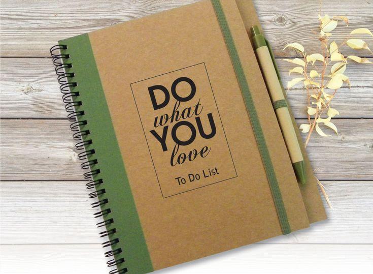 Custom Quote Journal sketchbook Gift Idea Customized Journal Custom Notebook To Do List Notebook Writing Journal Spiral Notebook (12.00 USD) by LooveMyArt