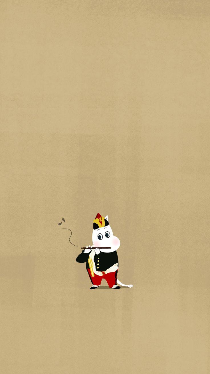 smartphone wallpaper 1080x1920_moomin 무민1080x1920 핸드폰 배경화면 :) Le Joueur de fifre_moomin