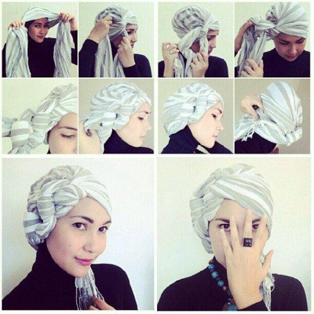 Cómo armar un turbante, paso a paso.