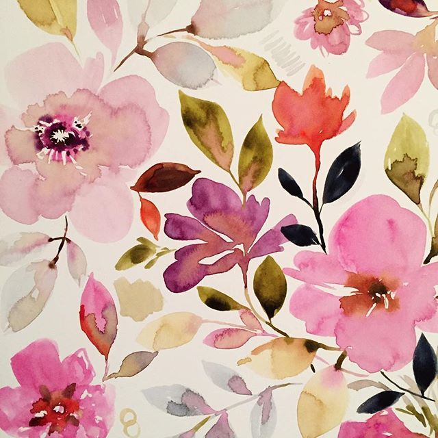 Working on more art for #surtex Flowers all day, every day.