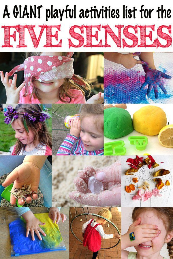 This GIANT list of activities will have you exploring the senses of taste, touch, smell, sight and hearing and having a fabulous time as you do so!