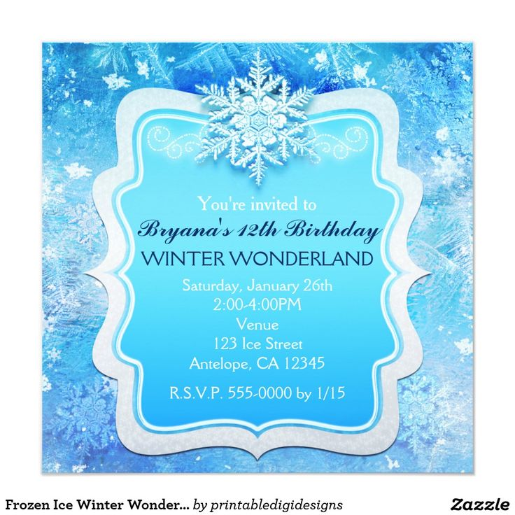97 best winter wonderland party invitations images on Pinterest ...