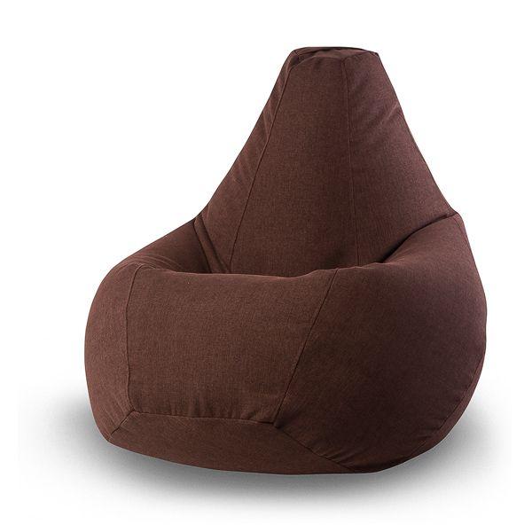 Кресло-груша Vella Brown XL (коричневый) Классические цвета мебели никогда не выйдут из моды! Если всем новшествам вы предпочитаете обаяние спокойной классики, то кресло-мешок Vella-Brown станет для вас идеальным выбором! Специальная ткань, из которой изготовлен чехол кресла, благодаря своим свойствам позволит избежать частых стирок.