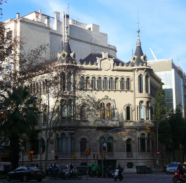casa Perez Samanillo, sede del Círculo Ecuestre de Joan Josep Hervás i Arizmendi. 1911