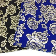 3d metallic jacquard brokaat stof meter grote rose winter jurk jas decor bekleding naaien materiaal doek tecido(China (Mainland))
