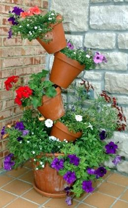 1000 Images About Garden Tipsy Pots On Pinterest Plant